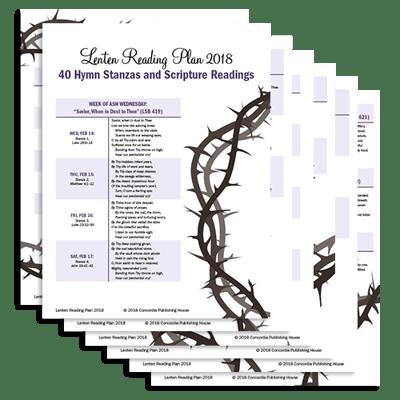 Lenten Reading Plan 2018