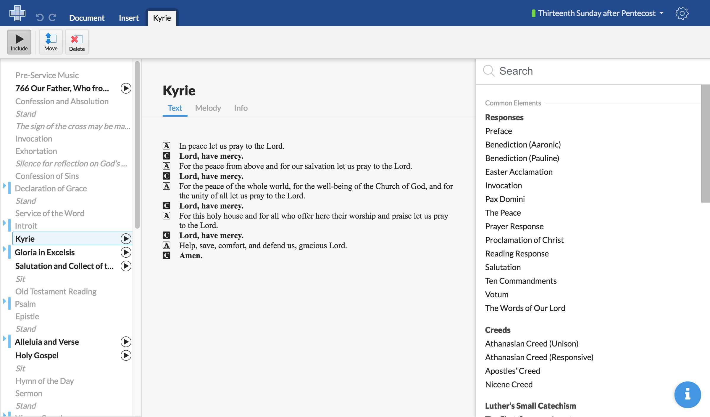 Screenshot of creating playlists